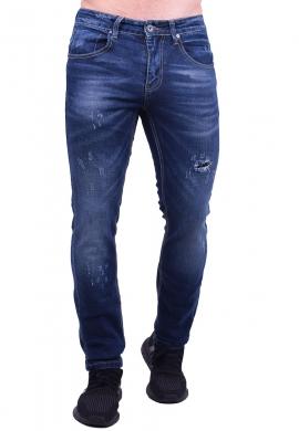 Παντελόνι τζιν με  φθορές σκούρο μπλε
