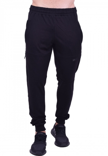 f586eaa6c59c Παντελόνι φόρμας μονόχρωμο μαύρο - Moda4u