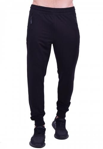 Παντελόνι φόρμας μονόχρωμο μαύρο