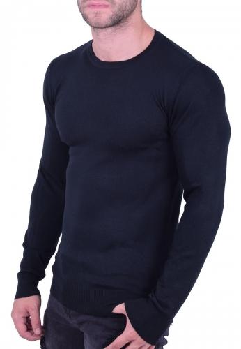 Μπλούζα λεπτό  πλεκτό  μαύρη