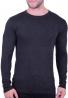Μπλούζα βαμβακερό πλεκτό σκούρο γκρι