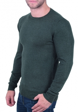 Μπλούζα βαμβακερό πλεκτό κυπαρισσί