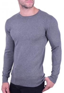 Μπλούζα βαμβακερό πλεκτό γκρι