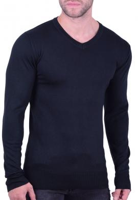 51f901a8c12c Μπλούζα Πλεκτή Με V μαύρη