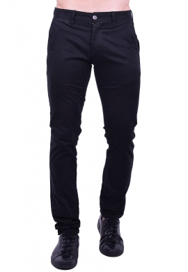 Παντελόνι υφασμάτινο chino μαύρο