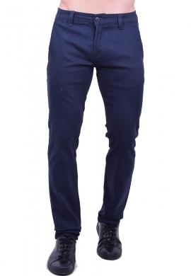 34b290a2d130 Παντελόνι υφασμάτινο chino τσέπη μπλε