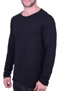 Μπλούζα μακρυμάνικη μονόχρωμη μαύρη