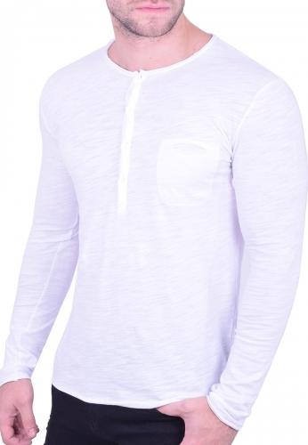 8fe0c6d670ef Μπλούζα με κουμπάκια και τσεπάκι λευκή - Moda4u