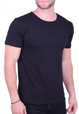 T-Shirt μονόχρωμο μαύρο