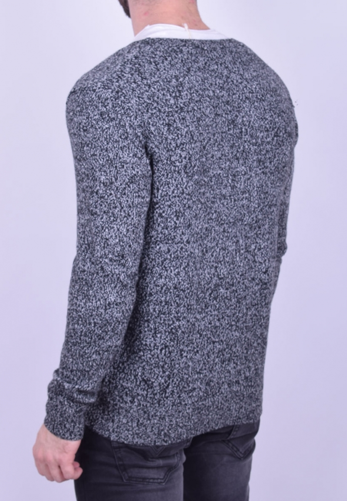 45ed9c560e94 Ζακέτα πλεκτή με κουμπάκια μαύρη - Moda4u