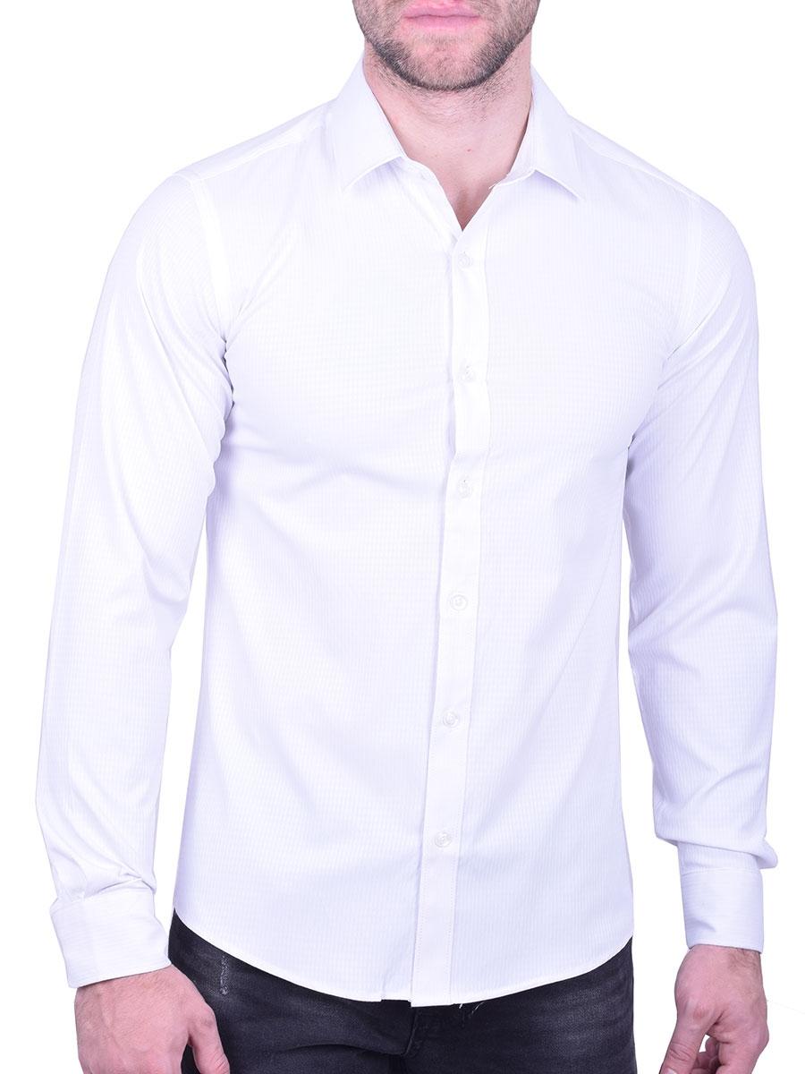 14ee5ff615bf Πουκάμισο μονόχρωμο λευκό - Moda4u