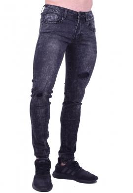 Ανδρικό Παντελόνι Bleached Denim Black