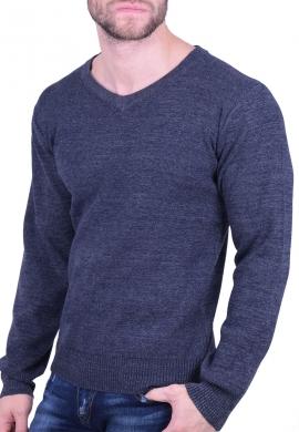 Μπλούζα βαμβακερό πλεκτό μπλε