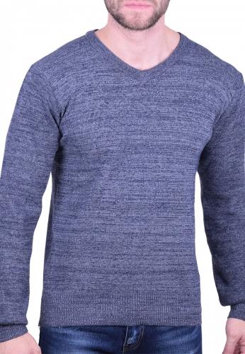 d1732e7f9c5d Ανδρική Μπλούζα πλεκτή μπλε - Moda4u