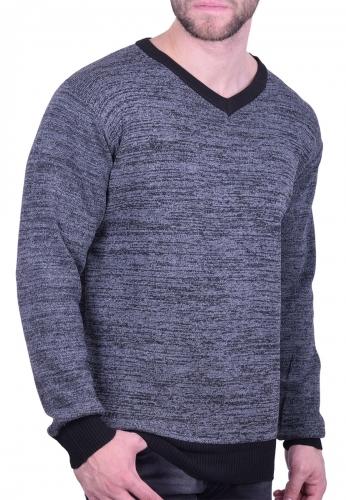 Ανδρική Μπλούζα πλεκτή μαύρη - Moda4u 880dc87b180