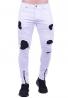 Παντελόνι τζιν biker λευκό