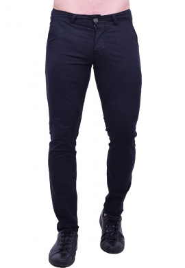 Παντελόνι υφασμάτινο chino τσέπη μαύρο