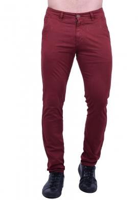 Παντελόνι υφασμάτινο chino τσέπη μπορντό