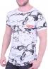 T-Shirt Με Νερά Λευκό