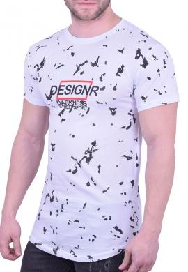 T-Shirt Με Πιτσιλιές Λευκό