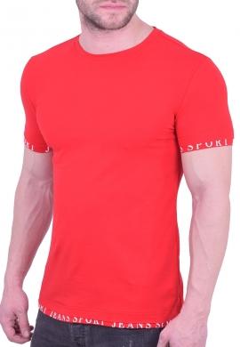 T-Shirt μονόχρωμο κόκκινο