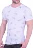 T-shirt με ανάγλυφο print λευκό