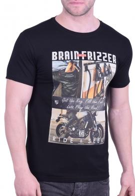 "T-Shirt ""Brain Frizzer"" Black"