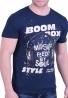 T-Shirt Με τύπωμα Μπλε