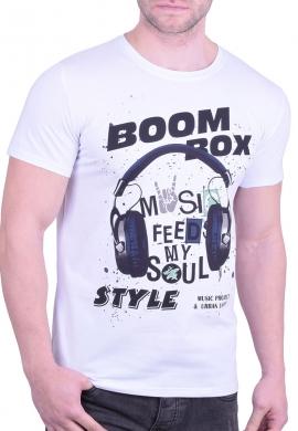 T-Shirt Με τύπωμα Λευκό