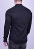 Mao collar shirt black