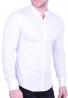 Mao collar shirt white