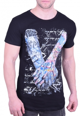 T-Shirt arms with tattoos black