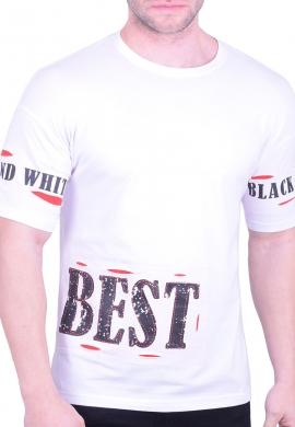 T-shirt με τυπώματα λευκό