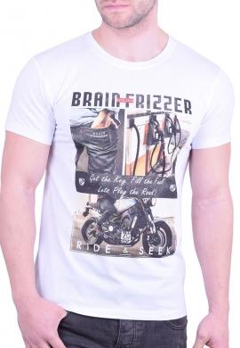 "T-T-Shirt ""Brain Frizzer"" White"