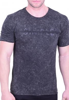 T-Shirt πετροπλυμένο Γκρι
