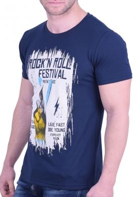 T-T-Shirt με τύπωμα μπλε