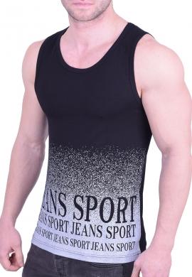 Αμάνικο t-shirt με τύπωμα μαύρο