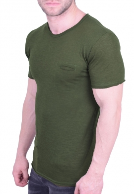T-Shirt βαμβακερό με τσεπάκι