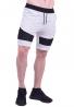 Βερμούδα βαμβακερή biker λευκή