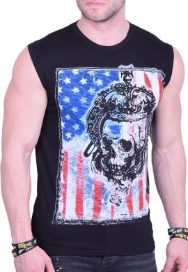 Αμάνικο t-shirt με φιγούρα μαύρο