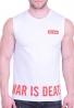 Αμάνικο t-shirt με τύπωμα λευκό