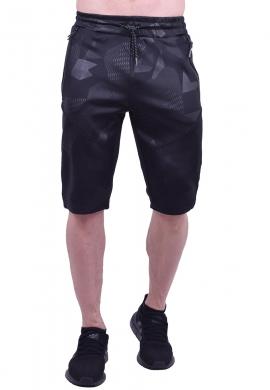 Βερμούδα αθλητική κάπρι μαύρη