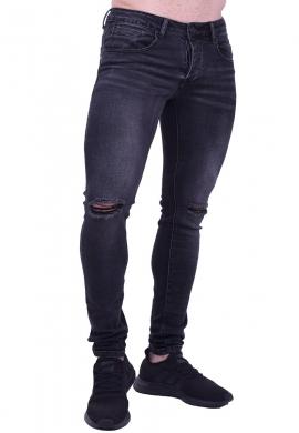 Ανδρικό παντελόνι τζιν με σκίσιμο στα γόνατο