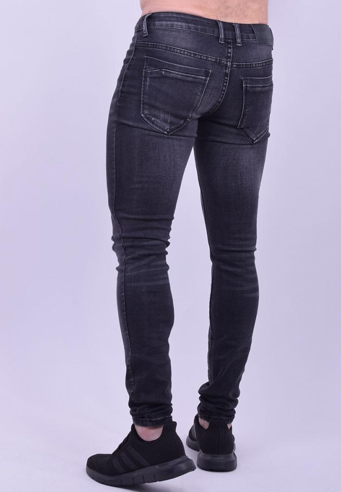 70379713db Ανδρικό παντελόνι τζιν με σκίσιμο στα γόνατο - Moda4u