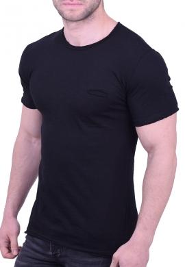 T-Shirt βαμβακερό με τσεπάκι μαύρο