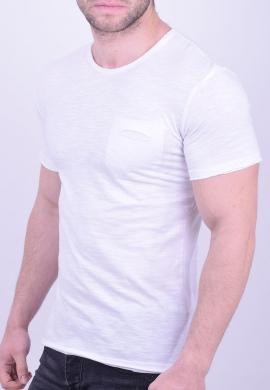 T-Shirt βαμβακερό με τσεπάκι λευκό