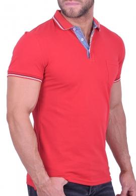 Πόλο Μπλούζα με ρίγα κόκκινη