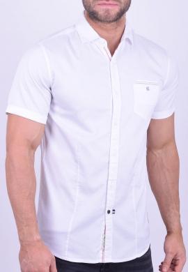 Πουκάμισο Κοντομάνικο Λευκό