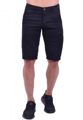 Βερμούδα υφασμάτινη chino τσέπη μαύρη