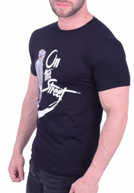 T-Shirt casual  μαύρο